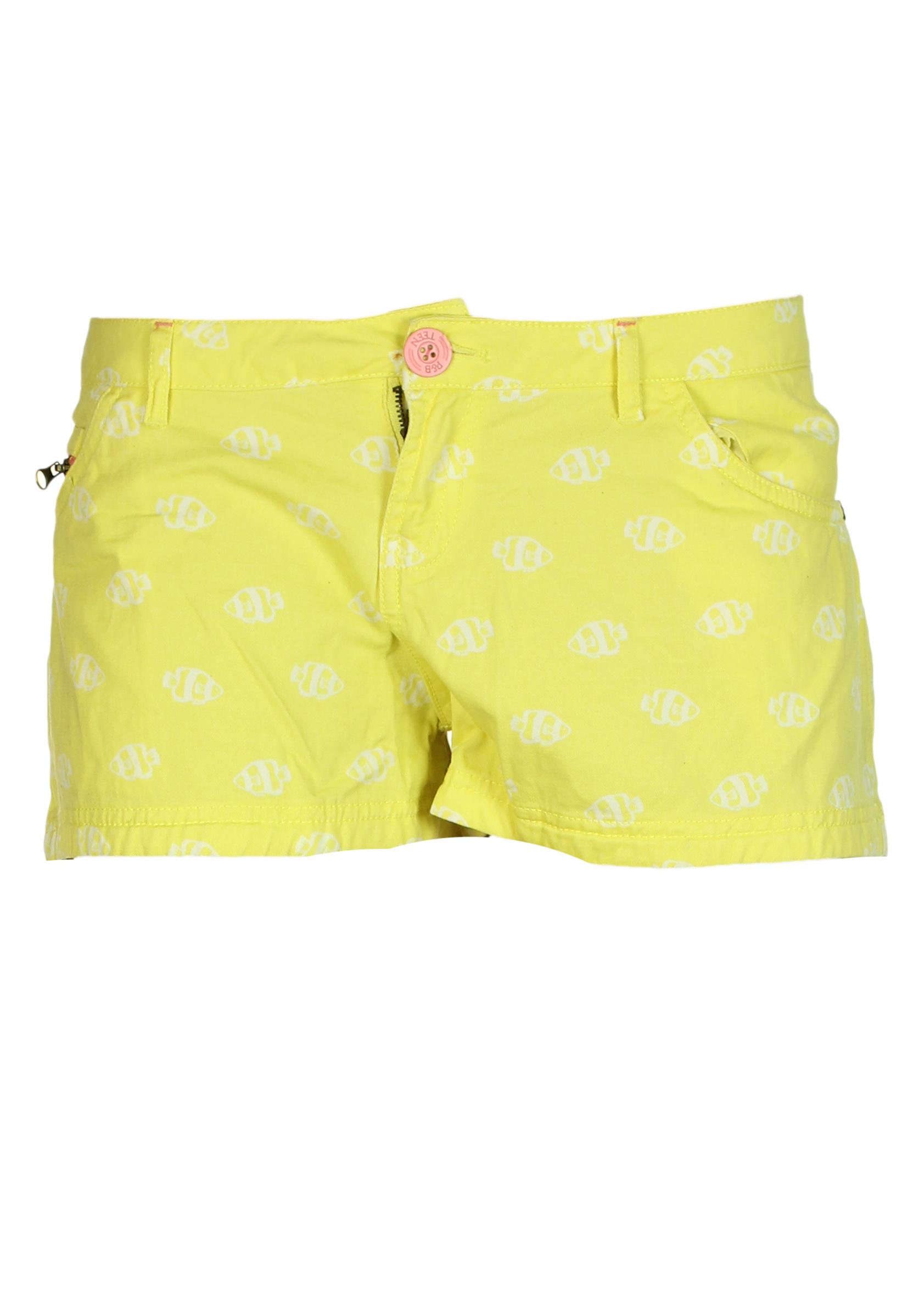 Pantaloni scurti Pull and Bear Wendy Yellow