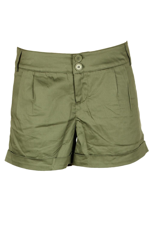 Pantaloni scurti VILA Pomotte Dark Green