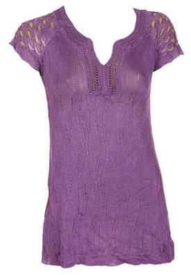 Tricou Mango Isis Purple | Kurtmann.ro