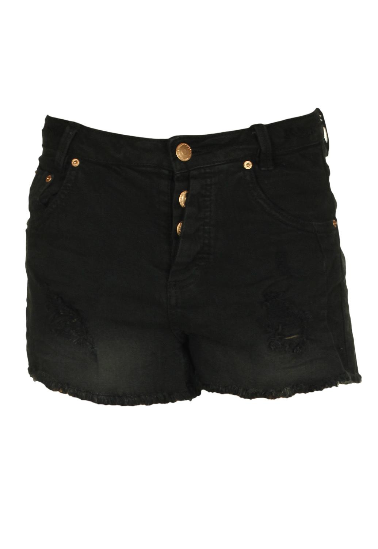 Pantaloni scurti Pull and Bear Basic Black