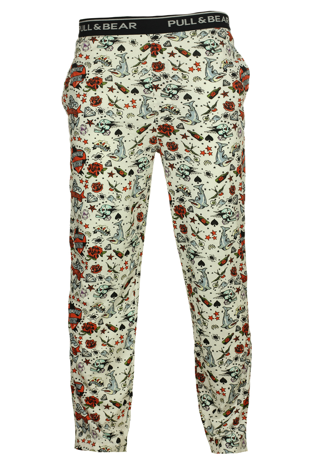 Pantaloni sport Pull and Bear Lisle White, preturi, ieftine