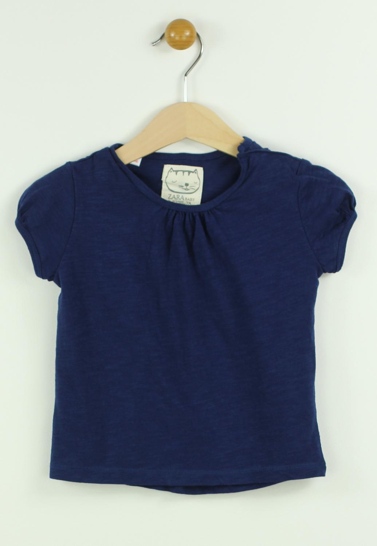 Tricou ZARA Mathilda Dark Blue
