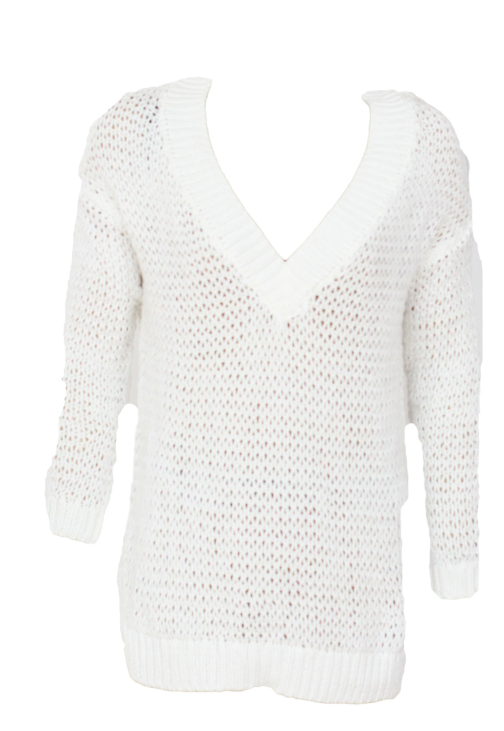 Pulover Bershka Outy White