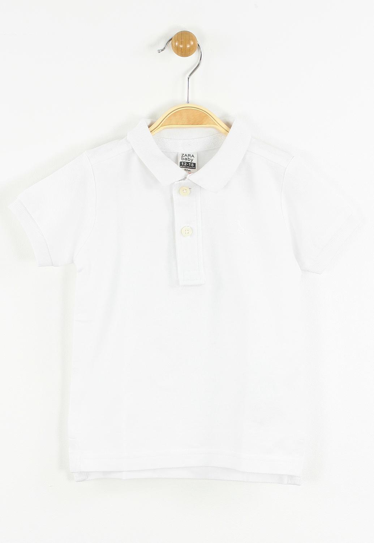 Tricou Polo ZARA Colle White