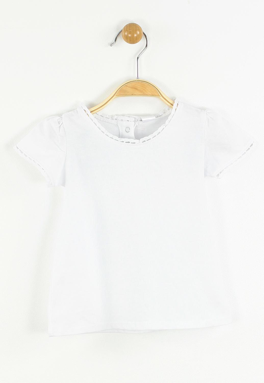 Tricou ZARA Fahne White