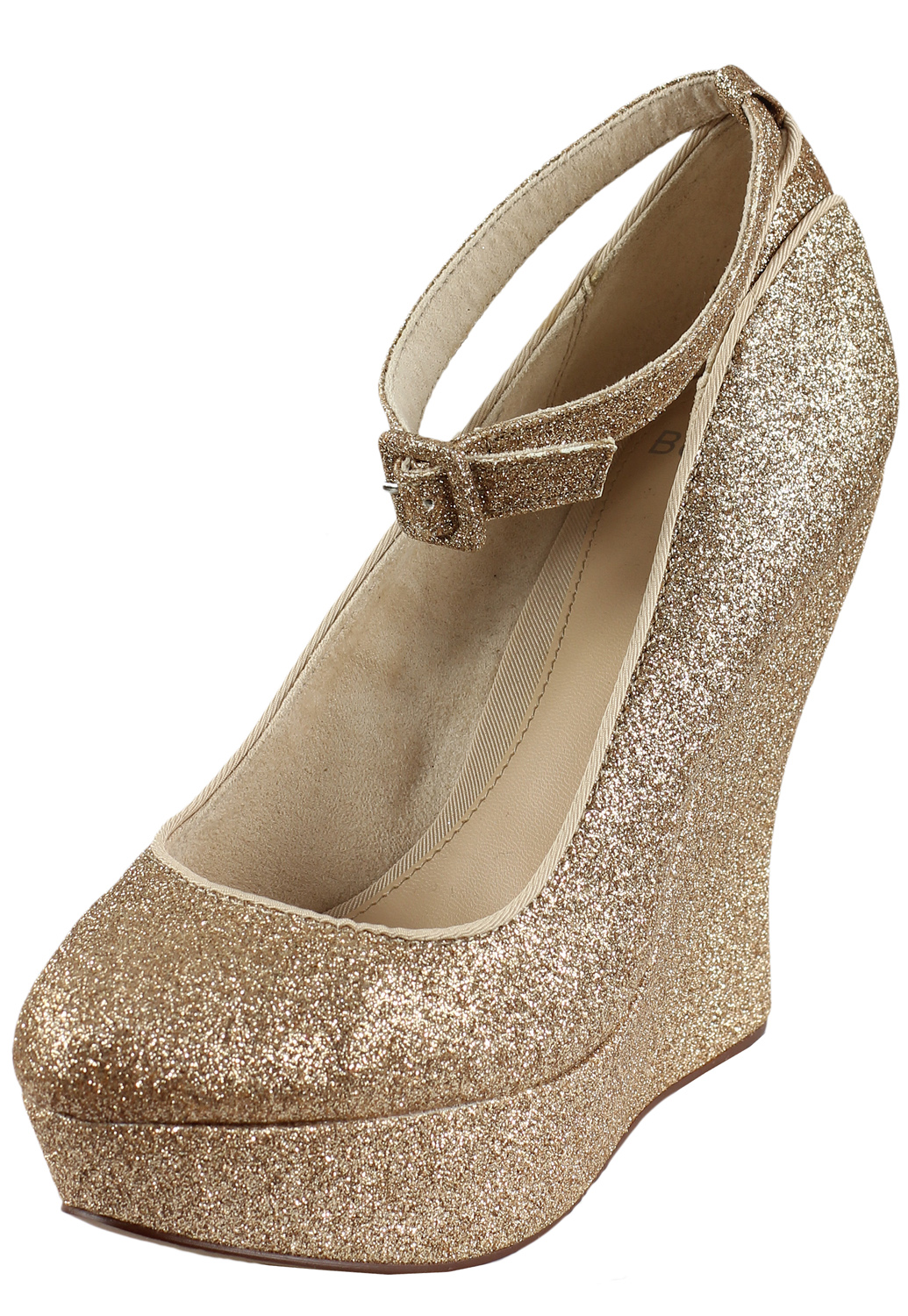 Platforme Bershka Ophta Golden