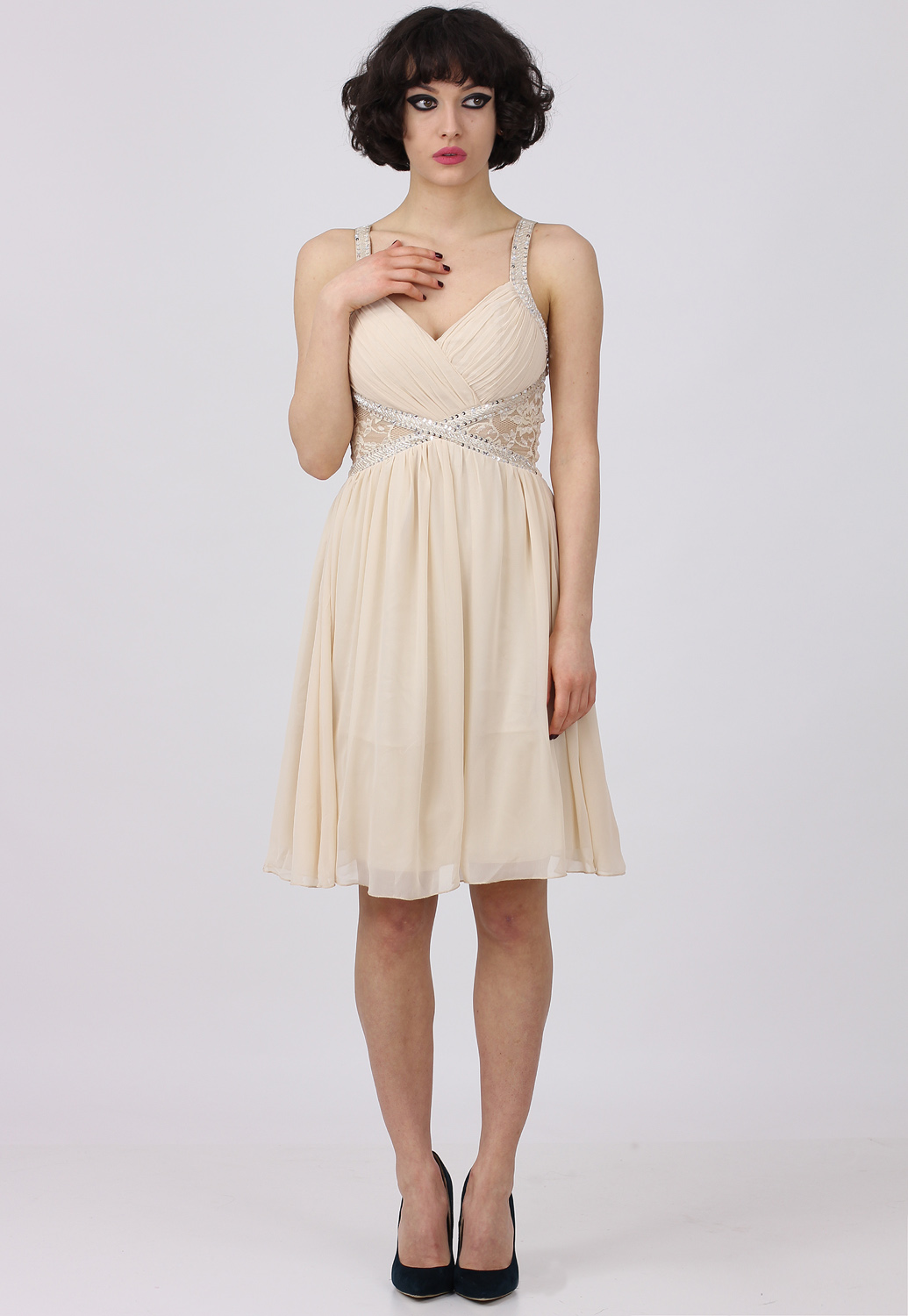 Rochie Little Mistress Kalpoe Light Beige