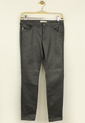 Pantaloni ZARA Shine Dark Grey