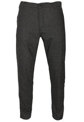 Pantaloni de stofa Elvine Ryle Dark Brown