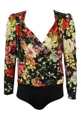 Body ZARA Floral Black