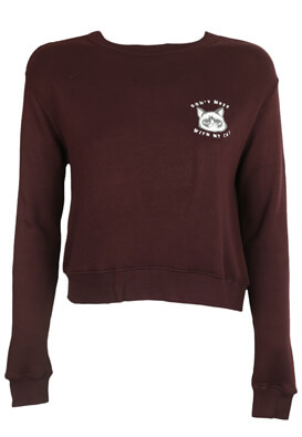 Bluza Pull and Bear Kitty Dark Purple