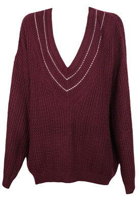 Pulover Pull and Bear Sarah Dark Purple