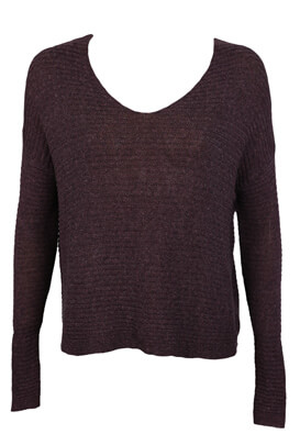 Pulover Pull and Bear Kitty Dark Purple