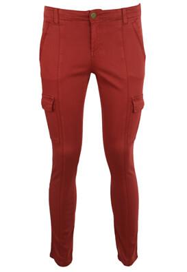 Pantaloni Promod Tara Dark Red