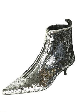 Botine ZARA Shine Silver