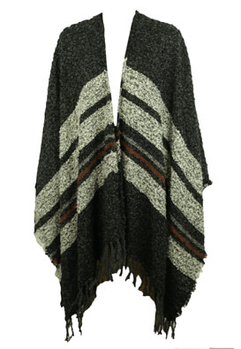 Poncho Pull and Bear Taya Dark Grey