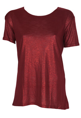 Tricou Stradivarius Shine Dark Red
