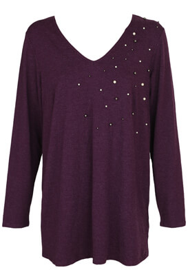 Bluza Kiabi Isabel Dark Purple
