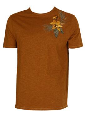Tricou Kiabi Flowers Brown