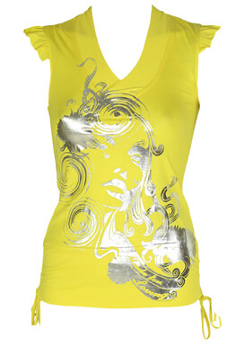 Tricou Made For Loving Maggie Yellow