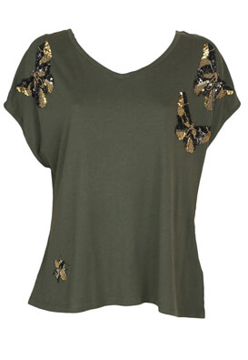 Tricou Next Loretta Dark Green
