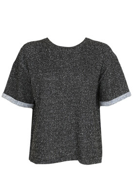 Tricou ZARA Elle Dark Grey