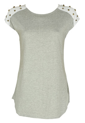 Tricou Souvenir Clubbing Samantha Light Grey