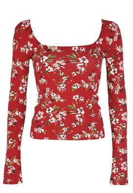 Bluza Bershka Floral Red