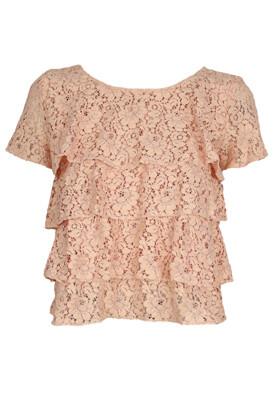 Tricou ZARA Lace Light Pink