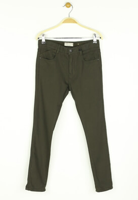 Pantaloni ZARA Shel Dark Green
