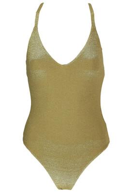 Costum de baie Pull and Bear Shine Golden