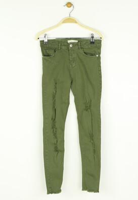 Pantaloni ZARA Chloe Dark Green