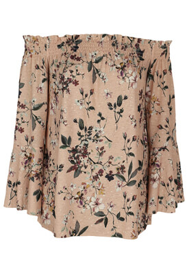 Bluza Pull and Bear Floral Pink