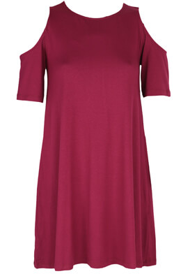 Rochie Pull and Bear Alice Dark Pink