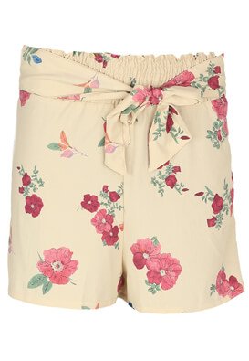 Pantaloni scurti Pull and Bear Floral Light Pink