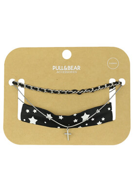 Set colier Pull and Bear Tia Black
