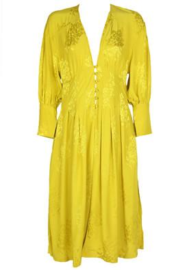Rochie Bershka Delia Dark Yellow