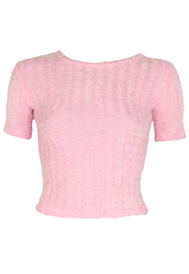 Tricou Bershka Gabriella Pink