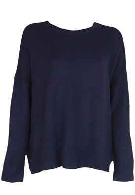 Pulover Bershka Bianca Dark Blue