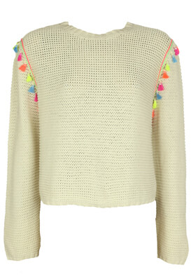 Pulover Bershka Henriette Light Beige