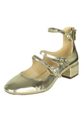 Pantofi Bershka Shine Golden