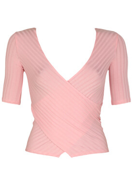 Tricou Bershka Kora Light Pink