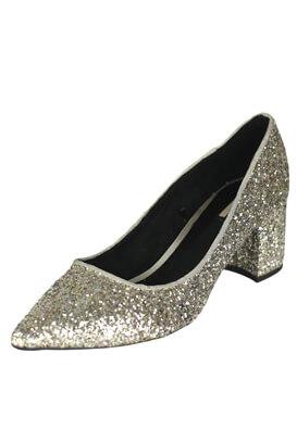 Pantofi Bershka Maya Silver