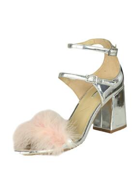 Sandale Bershka Kitty Silver