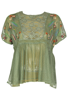 Tricou ZARA Dahlia Dark Green