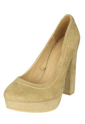 Pantofi Lefties Ingrid Light Beige