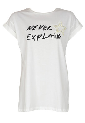 Tricou ZARA Evelyn White