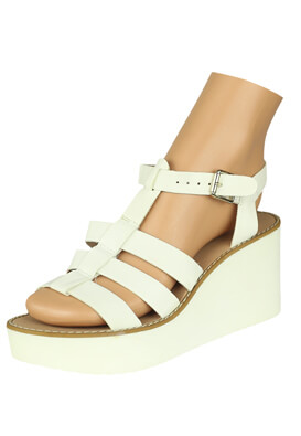 Platforme Stradivarius Kitty White