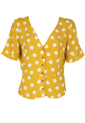 Camasa Bershka Victoria Dark Yellow