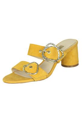 Saboti piele ZARA Giulia Yellow